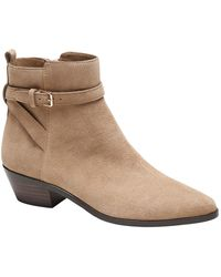 Banana Republic Suede Buckle Ankle Boot - Natural