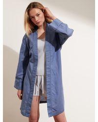 Banana Republic Linen-cotton Robe - Blue