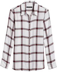 Banana Republic - Dillon Classic-fit Flannel Shirt - Lyst