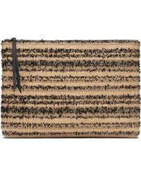 Banana Republic - Straw Large Zip Pouch - Lyst