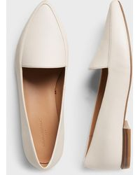 Banana Republic Factory Textured Pointed Toe Loafer - White