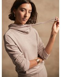 Banana Republic Factory Petite Soft Knit Snood Sweatshirt - Multicolor