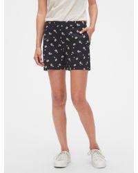 Banana Republic Factory Petite Tailored Pique Shorts - 5 Inch Inseam - Blue