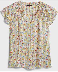Banana Republic Factory Flutter-sleeve Top - Multicolor