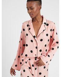 Banana Republic Factory Pajama Top - Pink