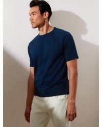 Banana Republic Factory Organic Cotton French Terry Sweatshirt - Blue