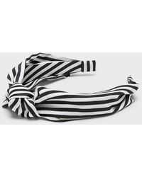 Banana Republic Factory Striped Knot Headband - Black