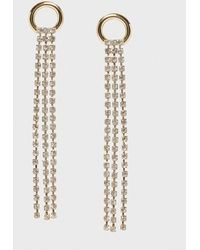 Banana Republic Factory Pave Drop Earrings - Metallic