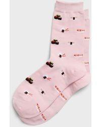 Banana Republic Factory Sushi Trouser Socks - Pink