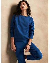 Banana Republic Factory Petite Soft Fleece Sweatshirt - Blue
