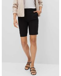 Banana Republic Factory High-rise Crepe Bermuda Shorts - 10 Inch Inseam - Black