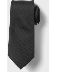 Banana Republic Factory Stain-resistant Solid Oxford Tie - Black