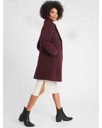 Banana Republic Factory Petite Knit Wool Overcoat - Multicolor