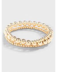 Banana Republic Factory Multi-layered Gold Ball Bracelet - Metallic