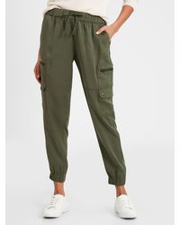 Banana Republic Factory Petite Soft Cargo Pant - Green