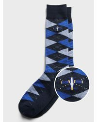 Banana Republic Factory Argyle Socks - Blue