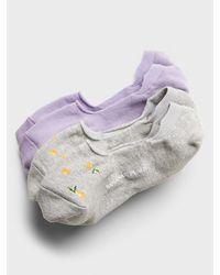 Banana Republic Factory Kitsch Print No-show Socks (2 Pack) - Purple