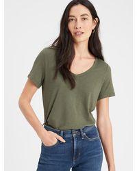Banana Republic Factory Malibu V-neck T-shirt - Green