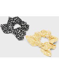 Banana Republic Factory Multi-dot Scrunchie (2 Pack) - Yellow
