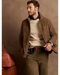 Banana Republic Factory Relaxed-fit Corduroy Shirt Jacket - Brown