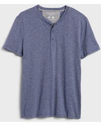Banana Republic Factory Quick Dry Henley - Blue