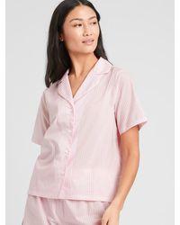 Banana Republic Factory Poplin Pajama Top - Pink