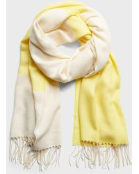 Banana Republic Factory Colorblock Scarf - Yellow