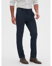 Banana Republic Factory Slim-fit Wrinkle Resistant Stripe Pant - Blue