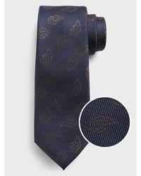 Banana Republic Factory Paisley Tie - Blue