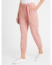 Banana Republic Factory Tie-waist Cargo Jogger - Pink
