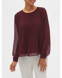 Banana Republic Factory Released Pleated Top - Purple