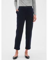 Banana Republic Factory Petite Hayden Knit Pinstripe Ankle Pant - Blue