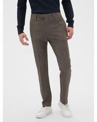 Banana Republic Factory Slim-fit Tweed Trouser - Gray