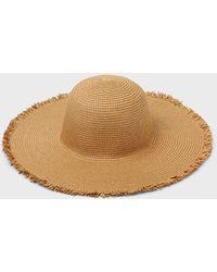 Banana Republic Factory Straw Fringe Beach Hat - Natural