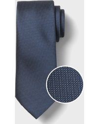 Banana Republic Factory Stain-resistant Micro Dot Tie - Blue