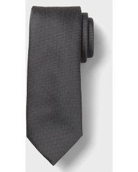 Banana Republic Factory Stain-resistant Micro Dot Tie - Gray
