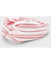 Banana Republic Factory Striped Knot Headwrap - Red