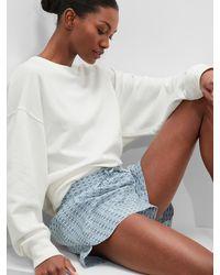 Banana Republic Factory Poplin Pajama Shorts - Blue