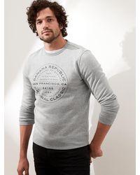 Banana Republic Factory City Logo Sweatshirt - Gray