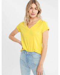 Banana Republic Factory Timeless V-neck T-shirt - Yellow