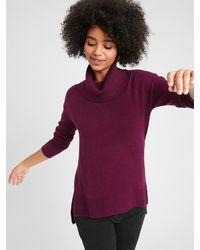 Banana Republic Factory Lofty Cowl-neck Sweater - Purple