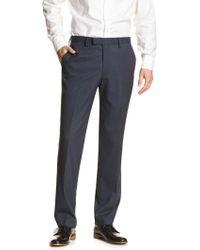 Banana Republic Factory - Standard-fit Stretch Navy Trouser - Lyst