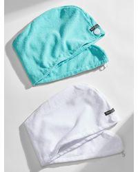 Banana Republic Factory Dry Hair Turbans (2 Pack) - Blue