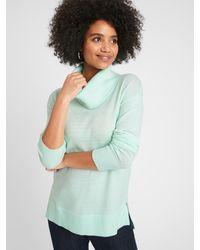 Banana Republic Factory Lofty Cowl-neck Sweater - Green