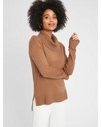 Banana Republic Factory Lofty Cowl-neck Sweater - Brown
