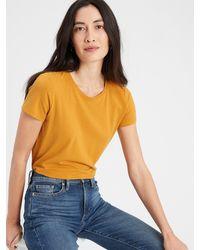 Banana Republic Factory Timeless Crew-neck T-shirt - Yellow