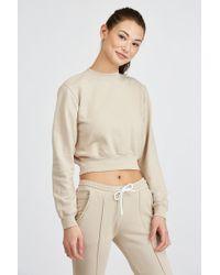 Cotton Citizen - Milan Cropped Crewneck Sweatshirt - Lyst
