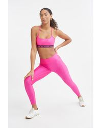 All Access High Waisted Center Stage Pocket Legging - Pink
