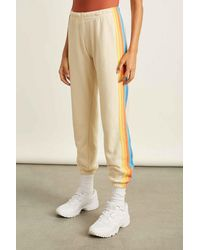 Aviator Nation 5 Stripe Sweatpants - Multicolor