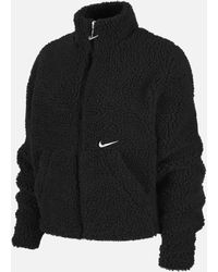 Nike Nsw Swoosh Jacket Sherpa - Black